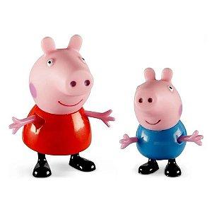 Bonecos Pim Pam Pum Peppa Pig e seus Amigos Peppa e George