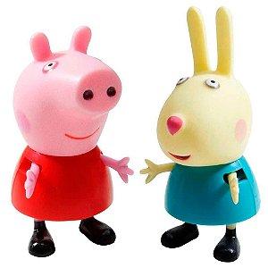 Bonecos Pim Pam Pum Peppa Pig e seus Amigos Peppa e Rebecca