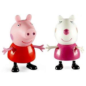 Bonecos Pim Pam Pum Peppa Pig e seus Amigos Peppa e Suzy