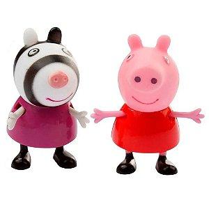 Bonecos Pim Pam Pum Peppa Pig e seus Amigos Peppa e Zoe