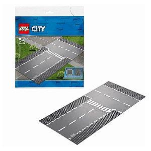 Blocos de Montar Base Lego City Reta e Entroncamento 60236