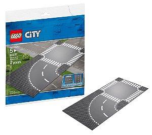 Blocos de Montar Base Lego City Curva e Cruzamento 60237