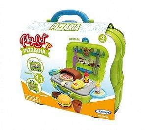 Brinquedo Playset Pizzaria 3 Em 1 30 Peças Xalingo 10854
