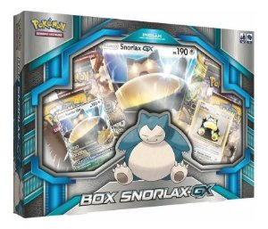Nova Caixa Pokemon Box Snorlax Gx Tcg Português Copag