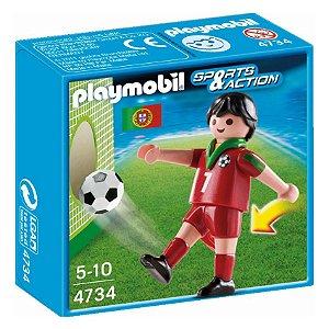 Playmobil Esportes Seleçoes Fifa Jogador Portugal 4734