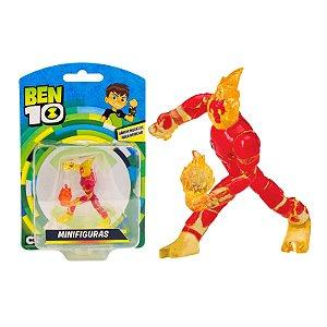 Novo Brinquedo Ben 10 Mini Figuras Alien Chama Sunny 1758