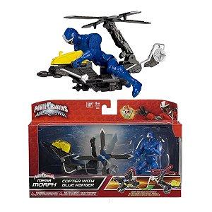Power Ranger Ninja Steel Azul Veiculo Morfador Sunny 1824
