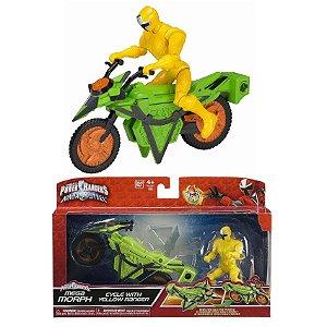 Power Ranger Ninja Steel Amarelo Veiculo Morfador Sunny 1824