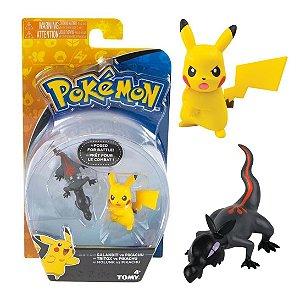 Novo Brinquedo Pokemon Figuras Salandit e Pikachu Sunny 1947
