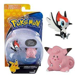 Novo Brinquedo Pokemon Figuras Pikipek e Clefairy Sunny 1947