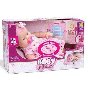 Boneca Baby Fofinha Com Vestido 106 Frases Divertoys 673