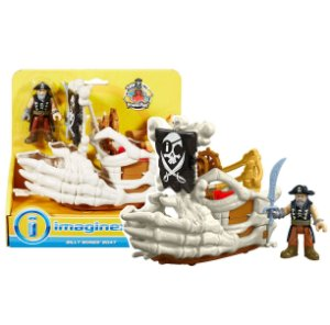 Imaginext Piratas Barco do Billy Bones Fisher Price Dhh64