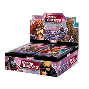 Battle Scenes Marvel Box Forças Estelares 36 Boosters Copag