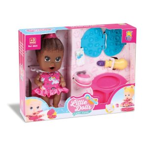 Boneca Little Dolls Come Come Faz Morena Divertoys 8068