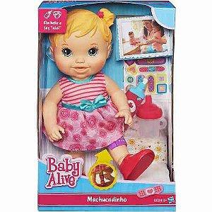 Boneca Loira Baby Alive Machucadinho Original Hasbro A5390
