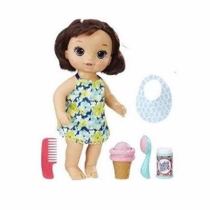 Novo Boneca Hasbro Baby Alive Sobremesa Magica Morena C1089