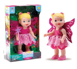 Boneca My Little Collection Fada Rosa 30Cm Divertoys 8042