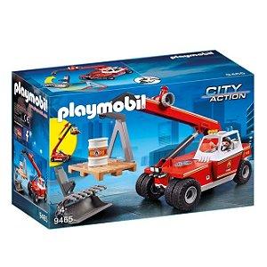 Brinquedo Playmobil Guindaste Corpo de Bombeiros Sunny 9465