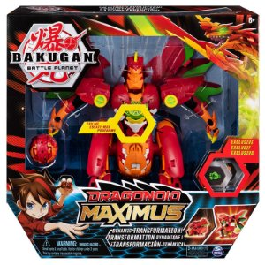 Figura Bakugan Battle Planet Dragonoid Maximus Sunny 2075