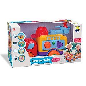 Brinquedo Caminhãozinho De Bombeiros Diver For Baby 8028