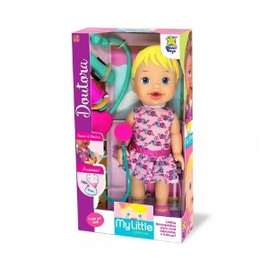 Boneca Loira My Little Collection Doutora Divertoys 8004