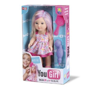 Boneca YouGirl Hair Style Com Acessórios  Divertoys 8069