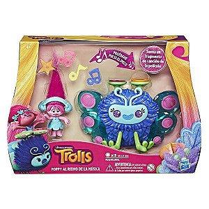 Brinquedo Boneca Trolls Poppy's Wooferbug Beats Hasbro B9885