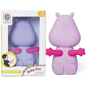 Brinquedo Infantil Amiguinho Baby Zoo Hipopotamo Estrela