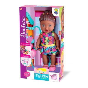 Boneca Negra My Little Collection Doutora Divertoys 8013