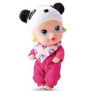 Boneca Little Dolls Sonhinho Urso Panda Divertoys 8019