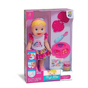 Boneca Litttle Collection Come e Faz Caquinha Divertoys 8021