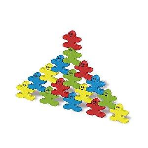 Brinquedo Boneco Equilibristas Caixa com 32 Pecas Maral 4165
