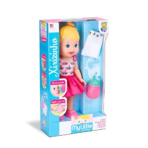 Boneca My Little Collection Faz Xixi 30Cm Divertoys 647