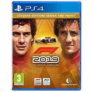 Jogo Novo Midia Fisica F1 2019 Legends Edition para Ps4