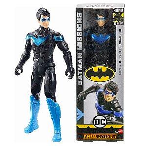 Novo Boneco DC Batman Missions Asa Noturna 30cm Mattel Fvm69