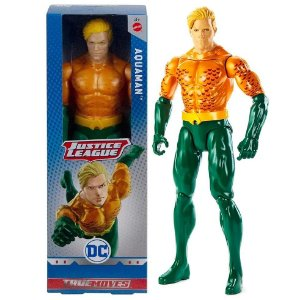 Brinquedo Liga da Justiça Aquaman Articulado Mattel Gdt49