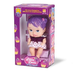 Boneca Little Dolls Cores e Sabores Uva Divertoys 672