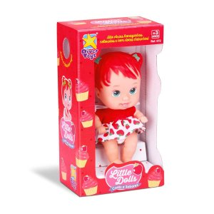 Boneca Little Dolls Cores e Sabores Morango Divertoys 672