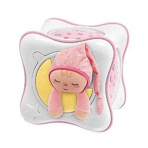 Projetor Rainbow Cube First Dreams Rosa com Som e Luz Chicco