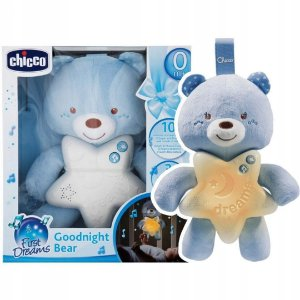 Ursinho Bons Sonhos First Dreams Azul com Som e Luzes Chicco