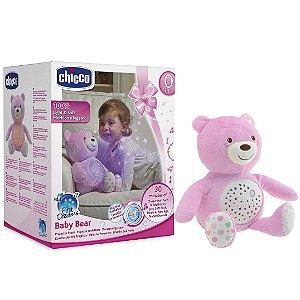 Pelucia Projetor Ursinho Baby Bear First Dreams Rosa Chicco
