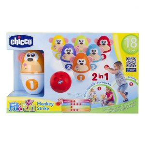 Brinquedo Boliche dos Macaquinhos 2 em 1 Fit Fun 18m+ Chicco