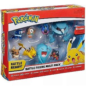 Pack Pokemon Battle Figure Conjunto com 8 Bonecos Dtc 4846