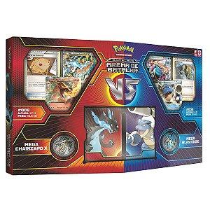 Box Pokemon Arena De Batalha Charizard Ex Vs Blastoise Ex
