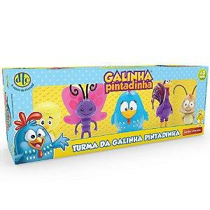 Brinquedo Turma da Galinha Pintadinha com 5 Bonecos Dtc 4991