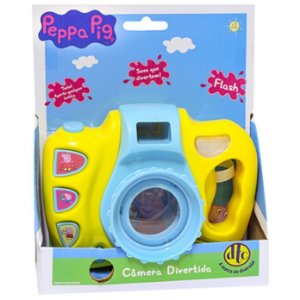 Brinquedo Peppa Pig Camera Divertida com Flash Dtc 4699