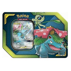 Pokemon Lata Porta Cards Aliados Gx Celebi e Venosaur Copag