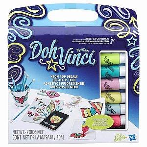 Brinquedo Doh Vinci Adesivos De Neon Hasbro B8954