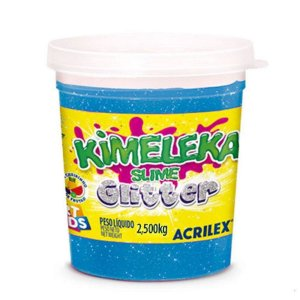Kimeleka Slime Glitter Balde 2,5 Kg Azul Acrilex 05825