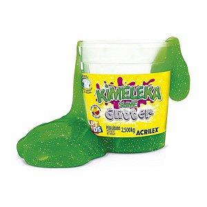 Kimeleka Slime Glitter Balde 2,5 Kg Verde Acrilex 05825